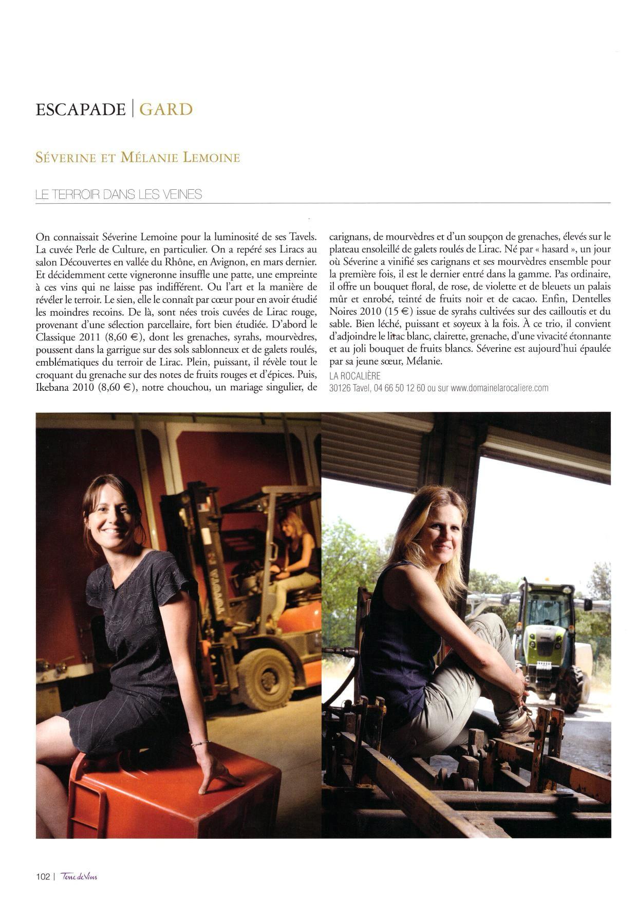 terre de vins 2013 presse