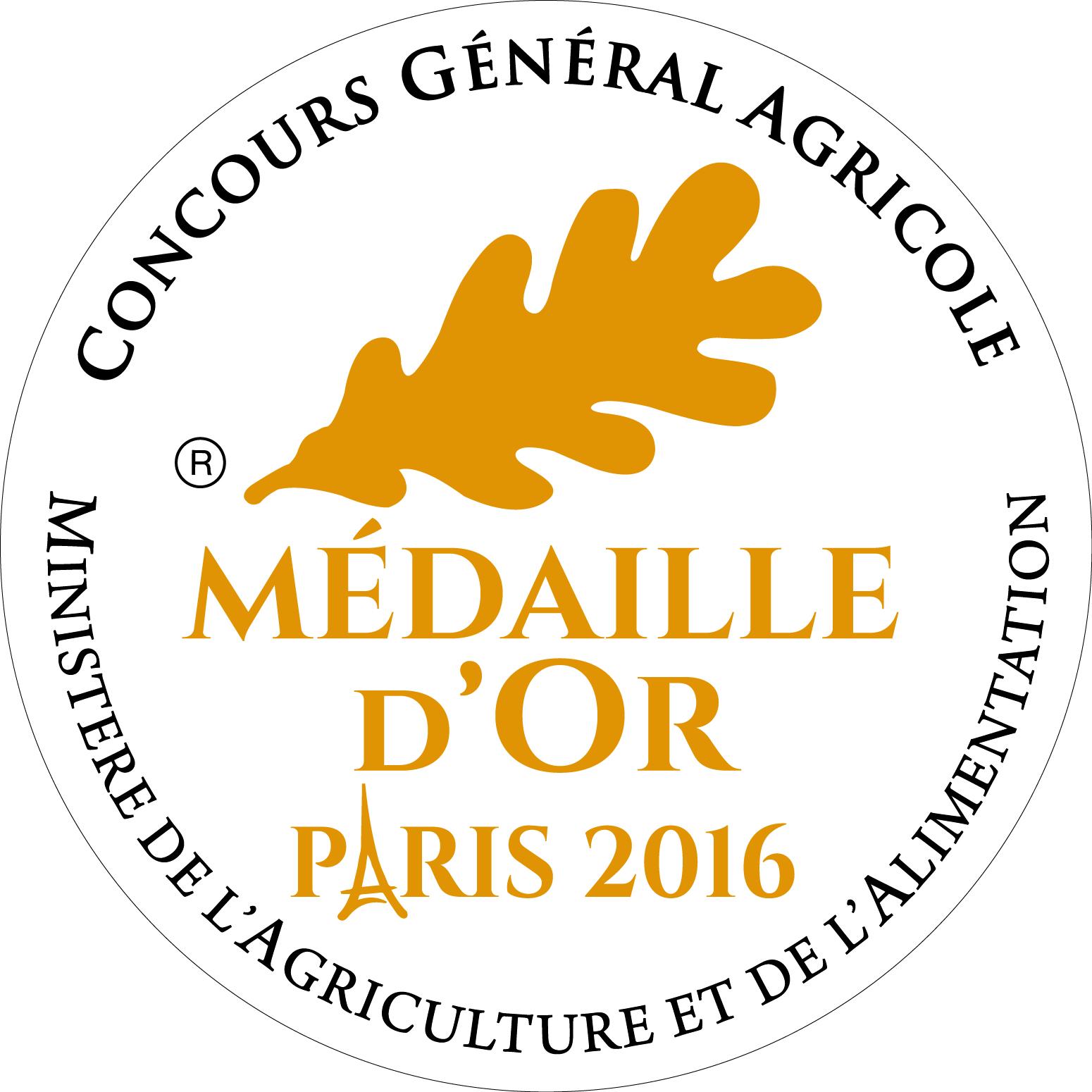 médaille or paris